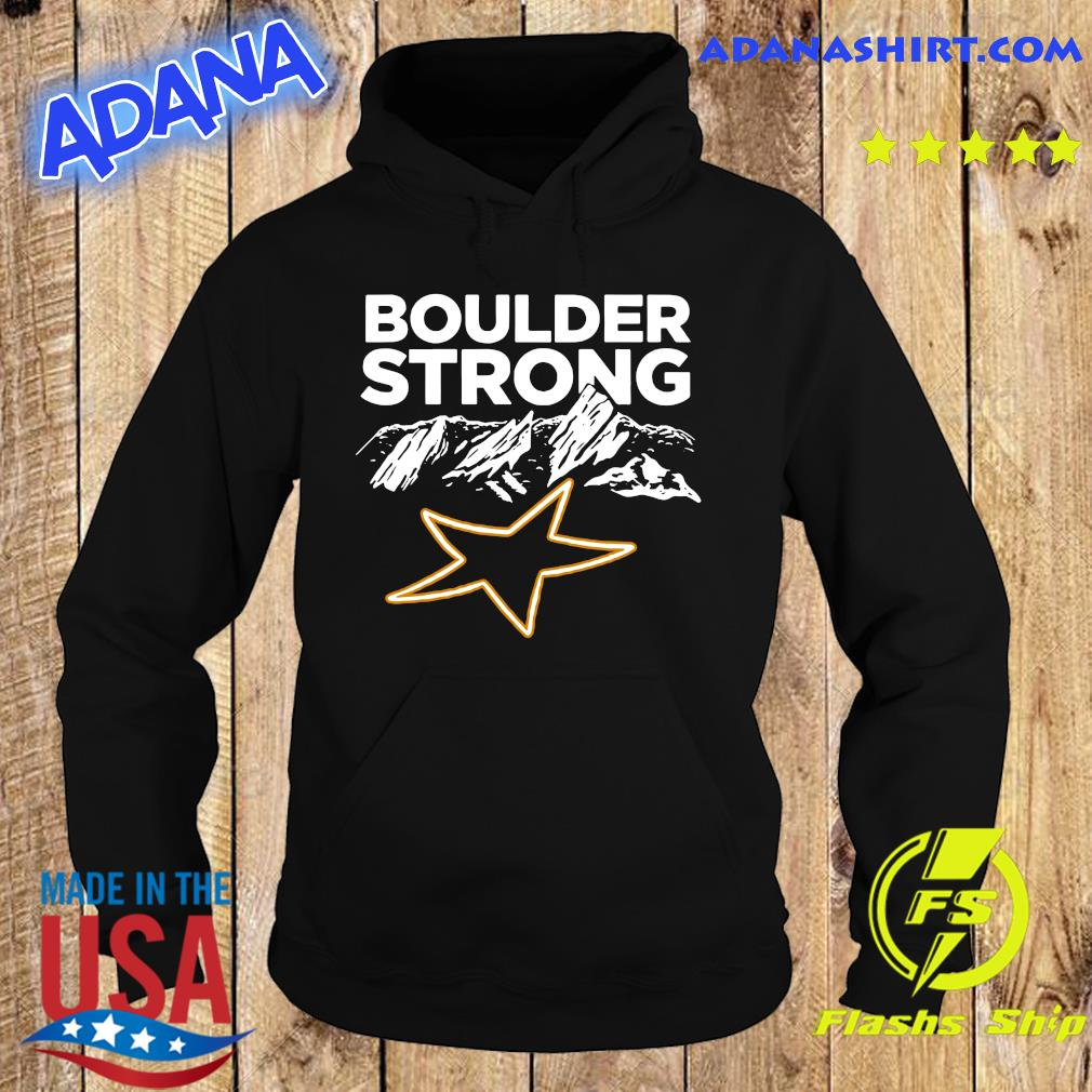 Official Boulder Strong Tee Shirt Hoodie