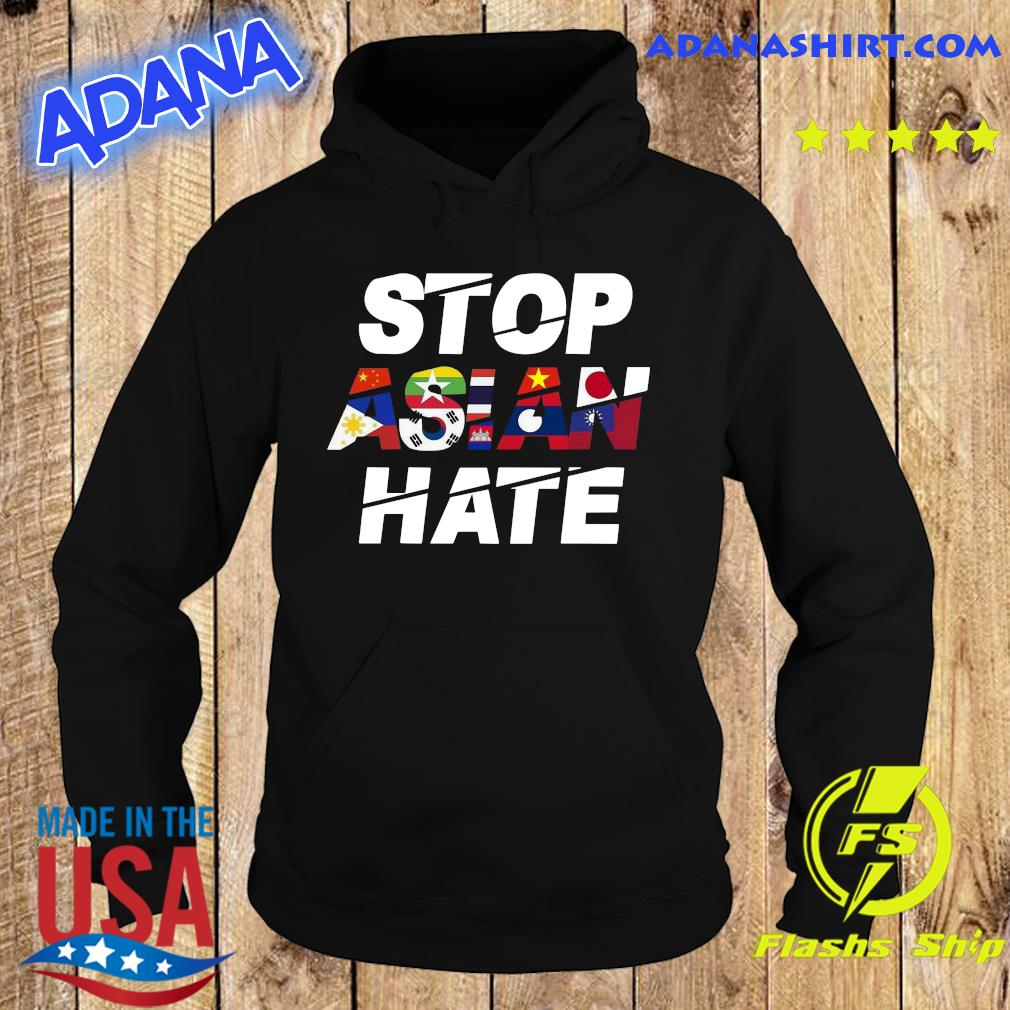 Official Stop Asian Hate Flag Wonderful Shirt Hoodie