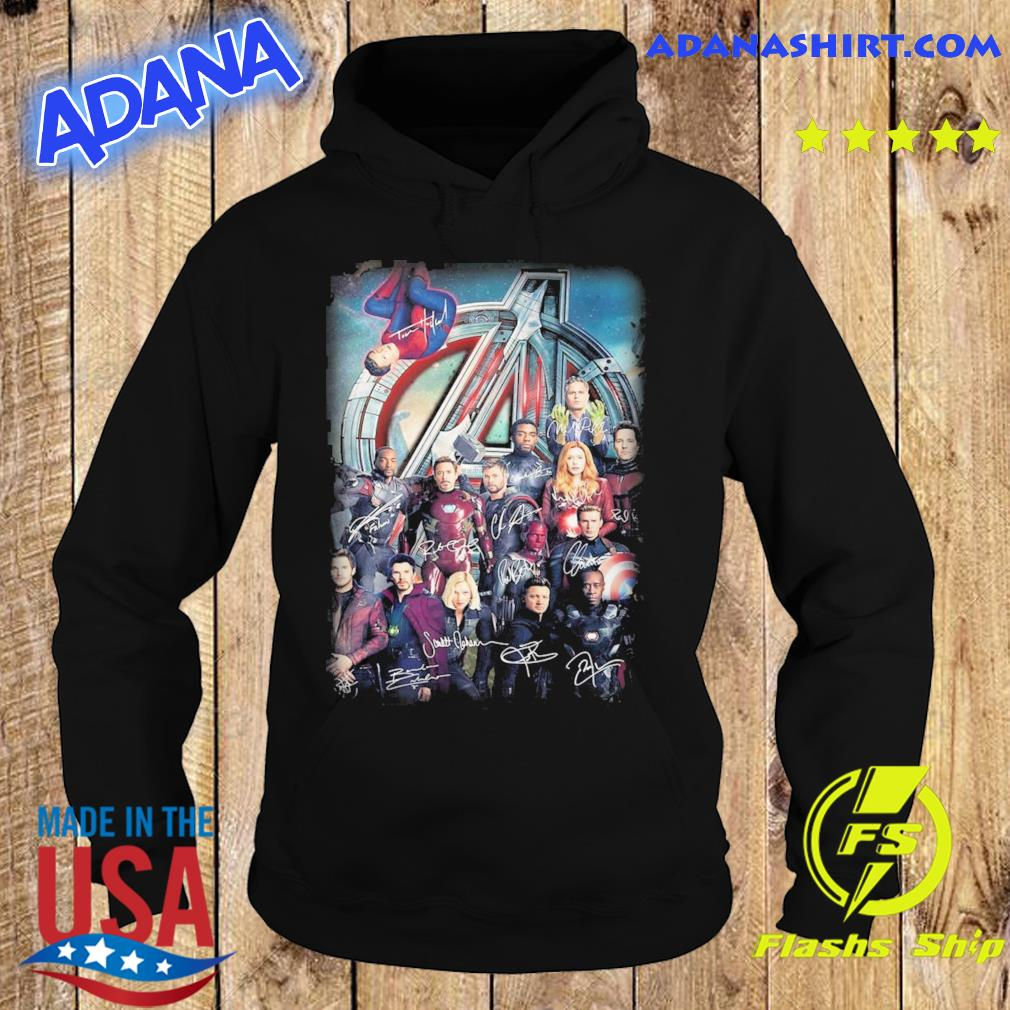 Official The Marvel Avenger Endgame Poster Movie Character Signatures Shirt Hoodie
