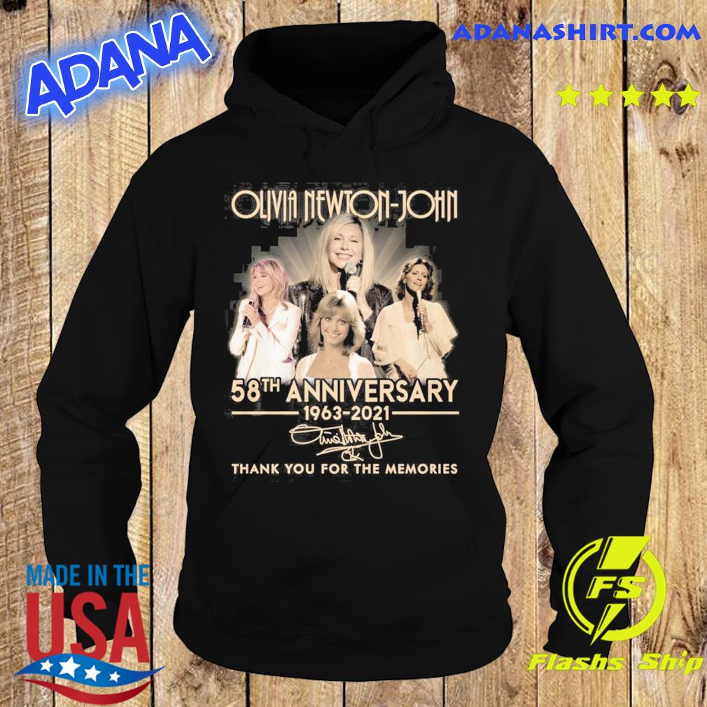 Olivia Newton-john 58th Anniversary 1963 2021 Signatures Thank You For The Memories Shirt Hoodie