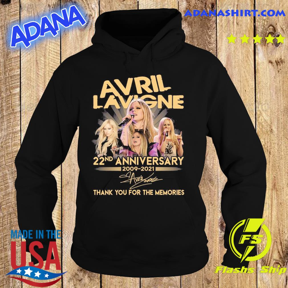 Avril Lavigne 22nd Anniversary 2009 2021 Signatures Thank You For The Memories Shirt Hoodie