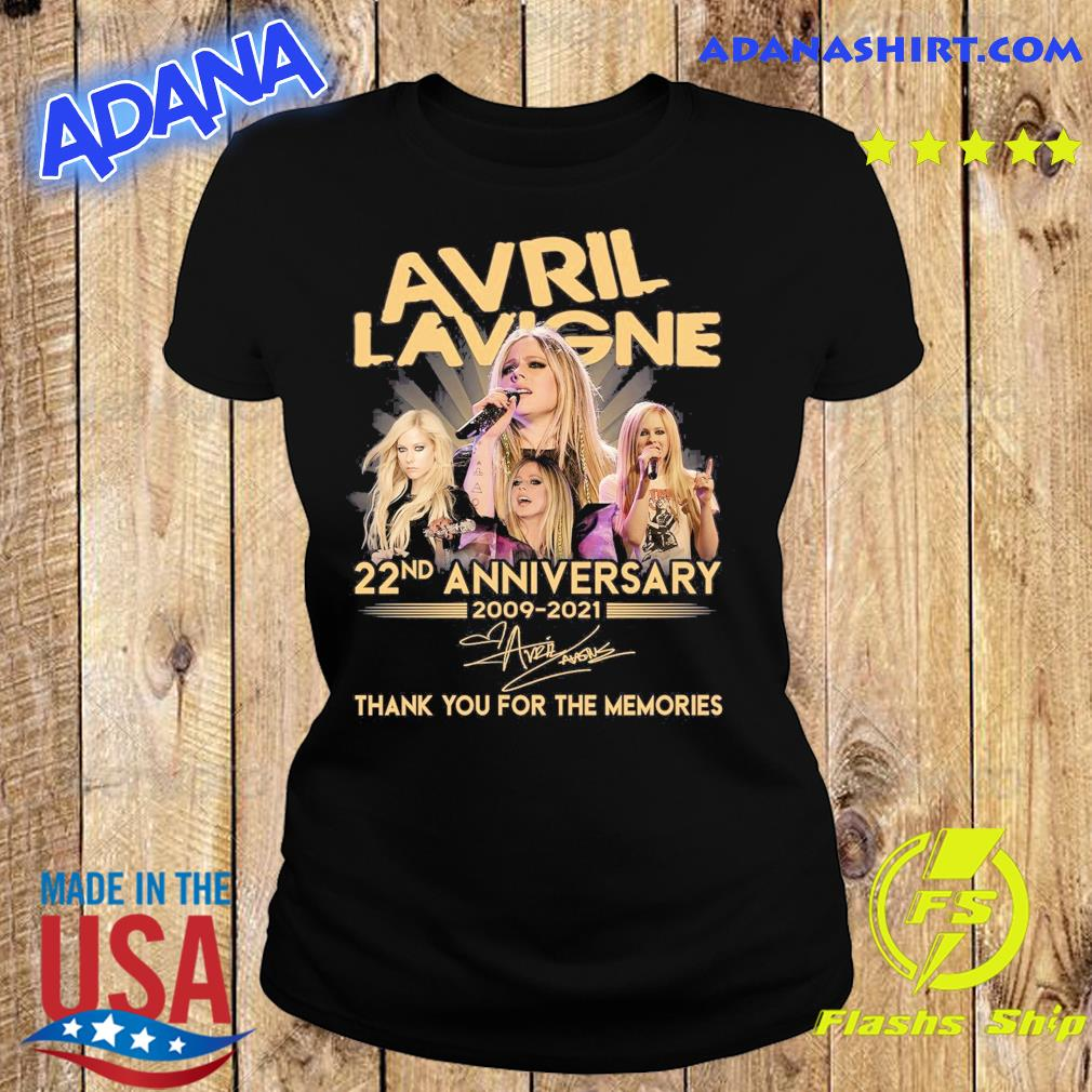 Avril Lavigne 22nd Anniversary 2009 2021 Signatures Thank You For The Memories Shirt Ladies tee