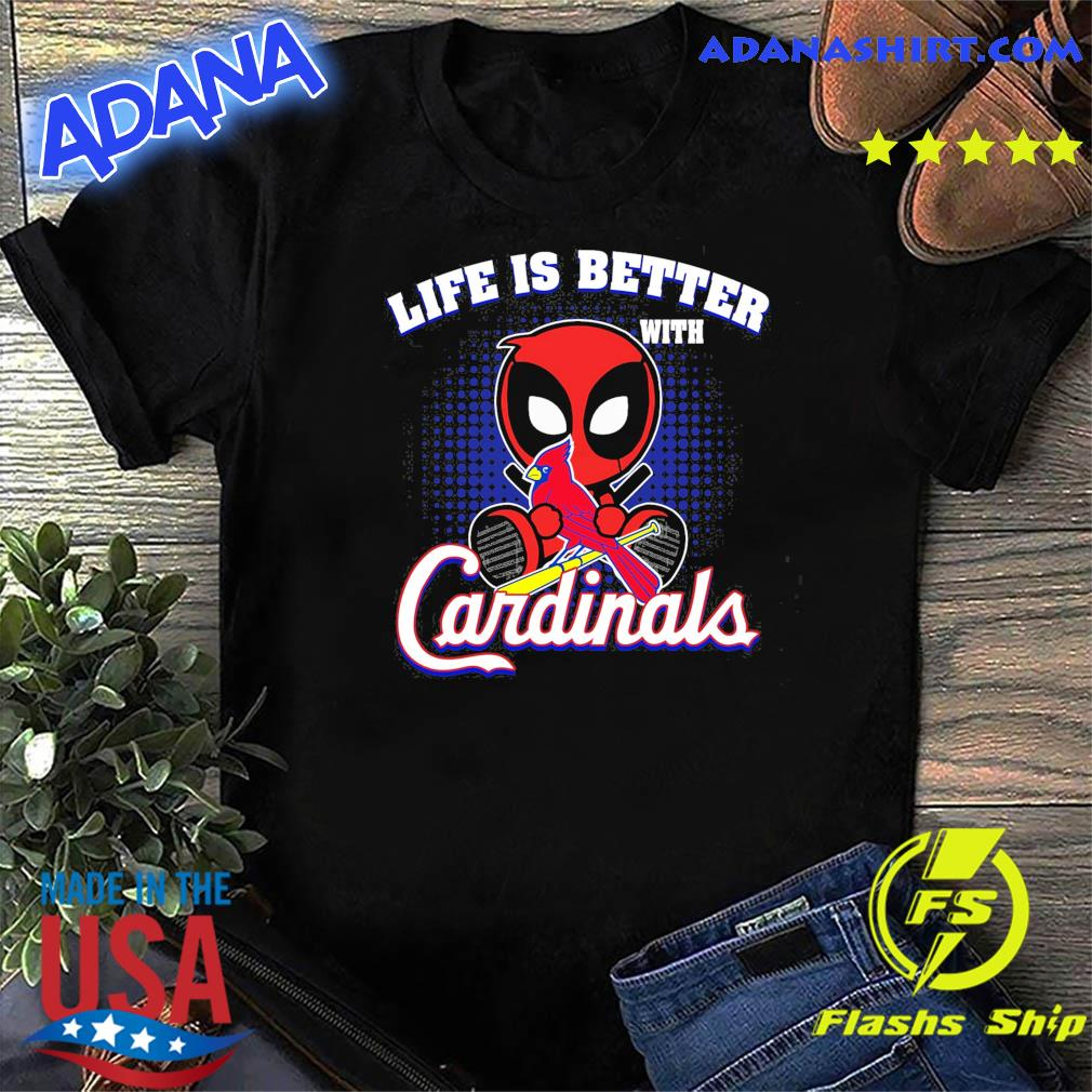 Baby Deadpool Life Is Better With Cardinals Shirt