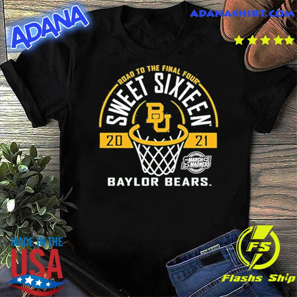Baylor Bears Green Road To The Final Four 2021 Sweet Sixteen Shirt