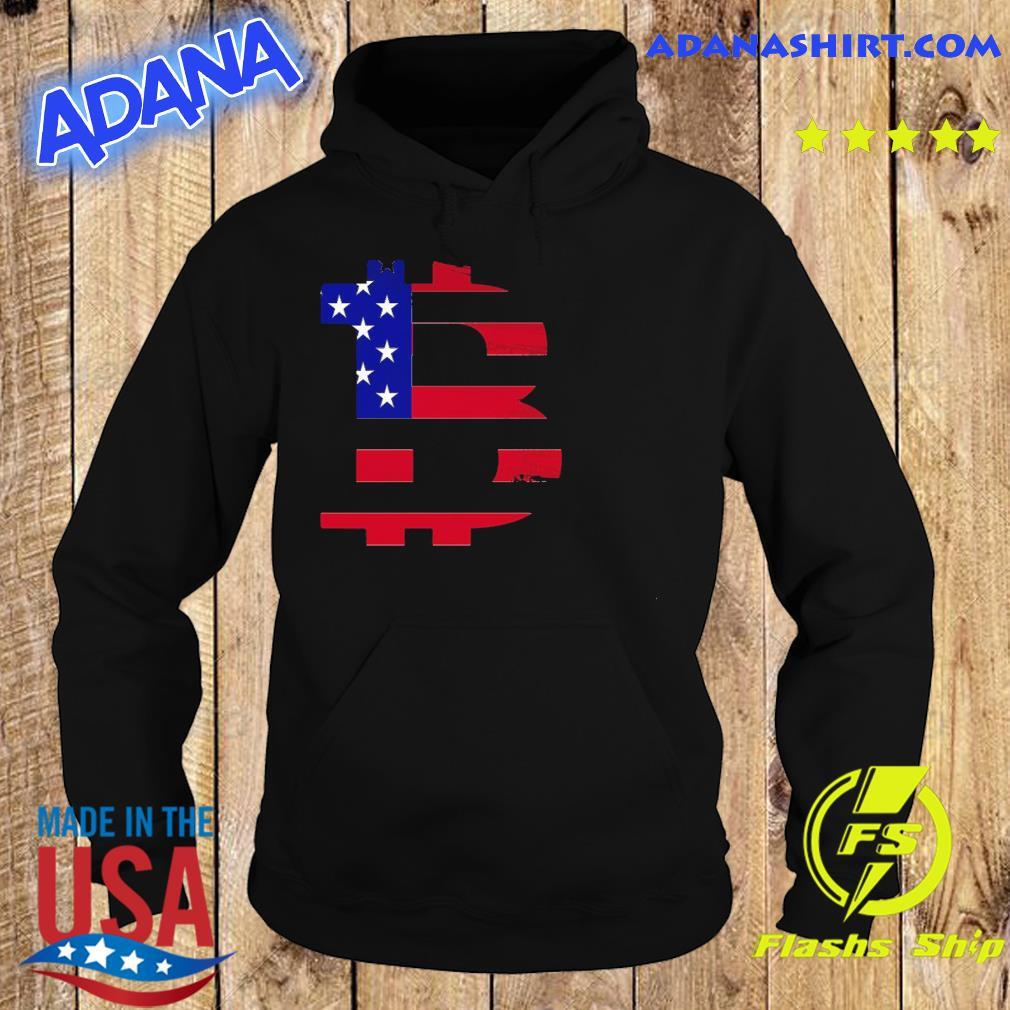 Official Bitcoin American Flag Shirt Hoodie