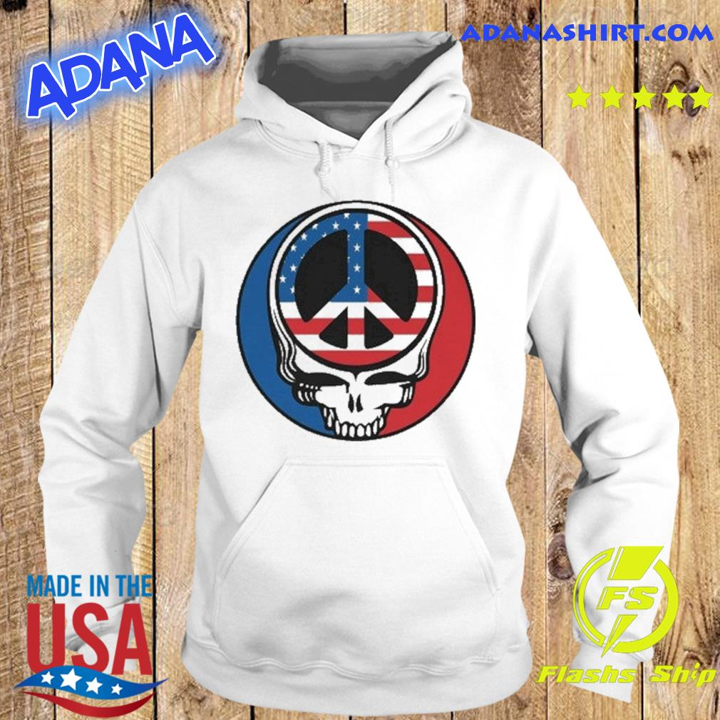 Official Peace Grateful Dead Steal Your Face American Flag Shirt Hoodie