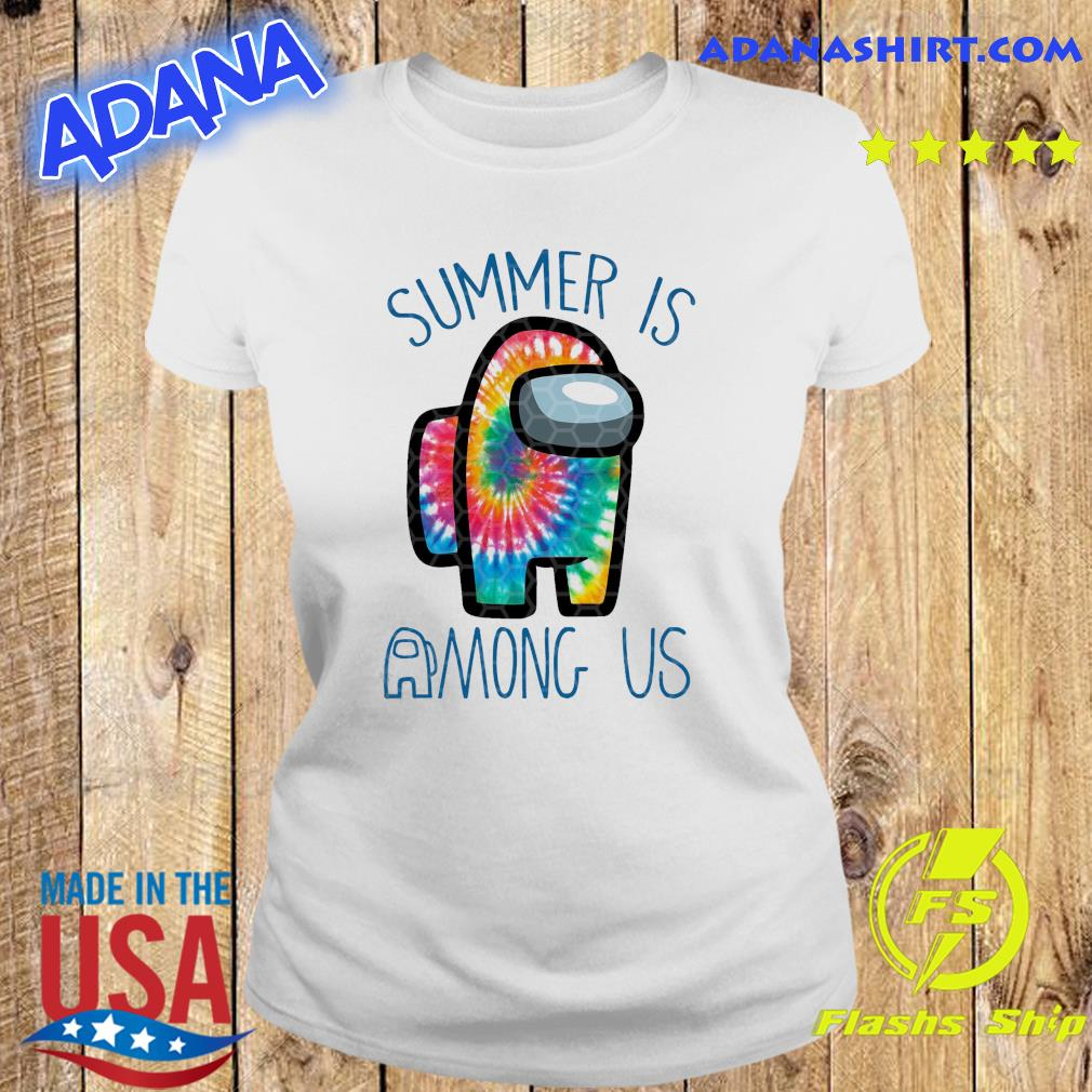 Official Summer Is Among Us - Among Us Impostor Art Color Shirt Ladies tee