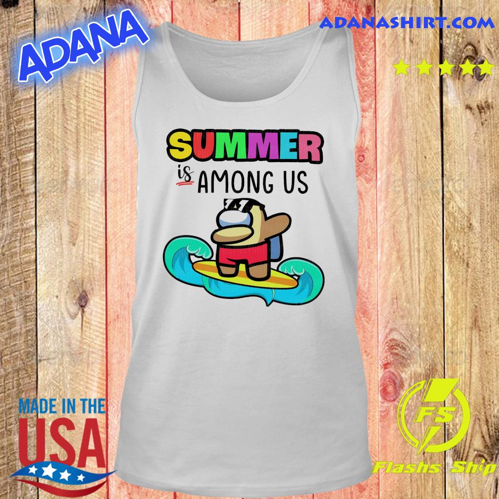 Official Summer Is Among Us Dabbing And Surfing Shirt Tank top