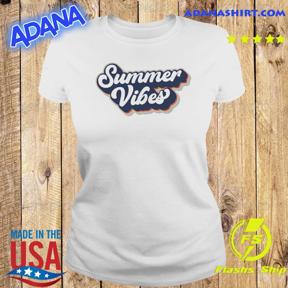 Official Vintage Summer Vibes - Hello Summer 2021 Shirt Ladies tee