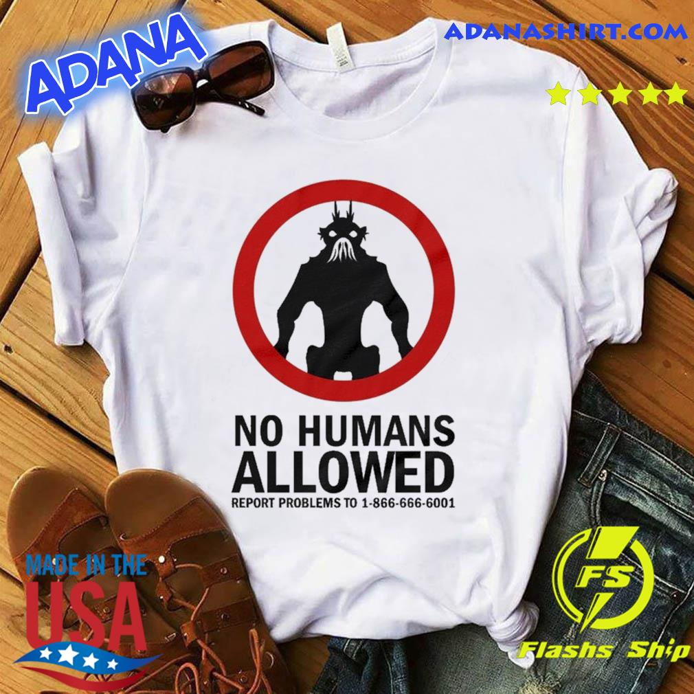The District 9 Movie No Humans Allowed Shirt