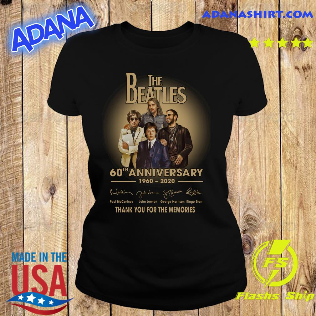 The Beatles 60th anniversary 1960 2020 Paul Mccartney John Lennon think s Ladies tee