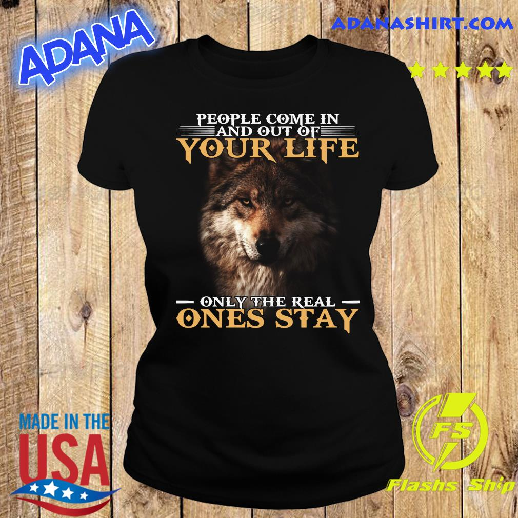 Dog People Come In And Out Of Your Life Only The Real Ones Stay Shirt Ladies tee