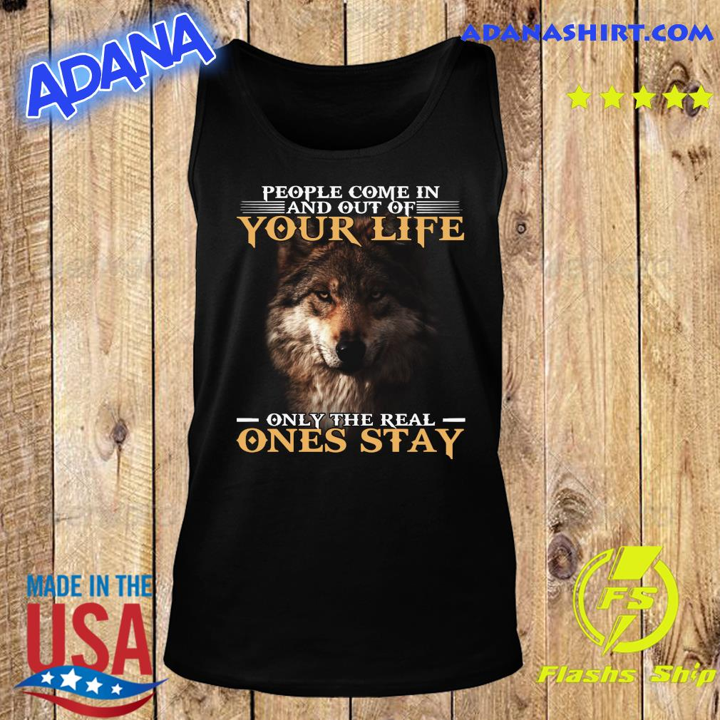 Dog People Come In And Out Of Your Life Only The Real Ones Stay Shirt Tank Top