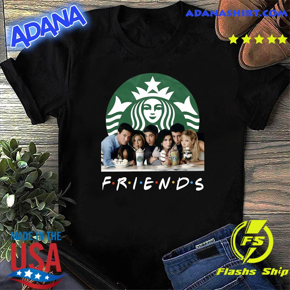 Friends Character Starbucks Coffee Shirt