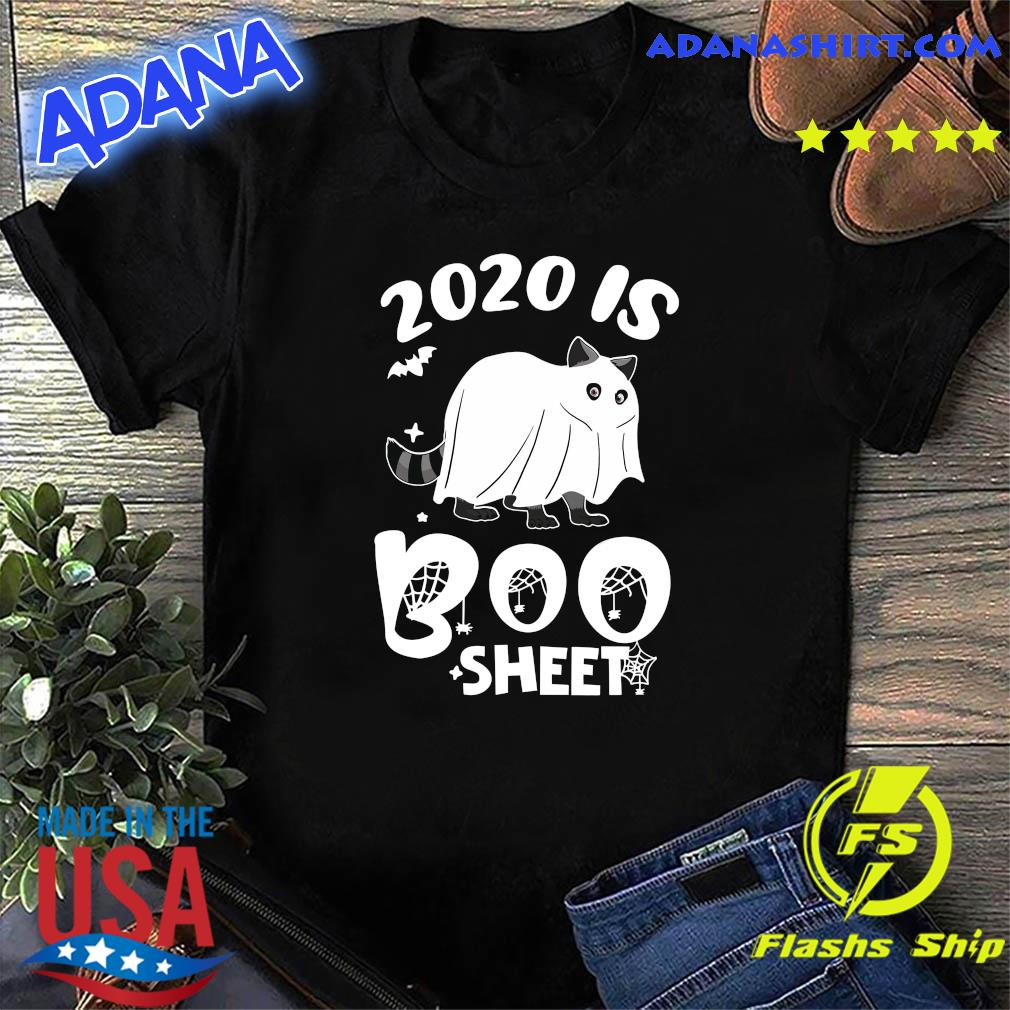 Ghost Cat 2020 Is Boo Sheet Halloween Shirt