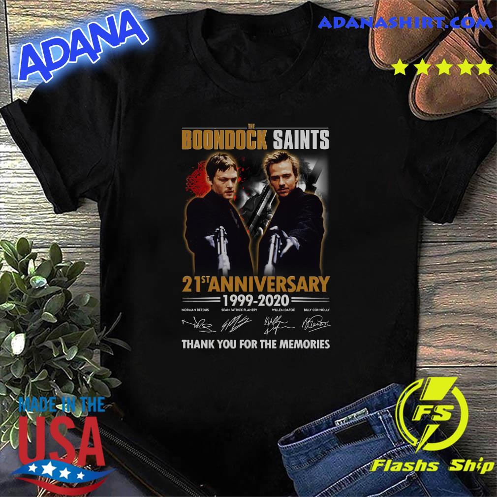 The Boondock Saints 21st Anniversary 1999 2020 Thank You For The Memories Signatures Shirt