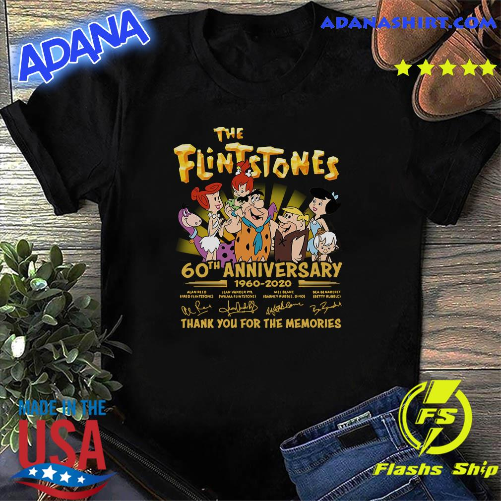 The Flintstones 60th Anniversary 1960 2020 Thank You For The Memories Signatures Shirt