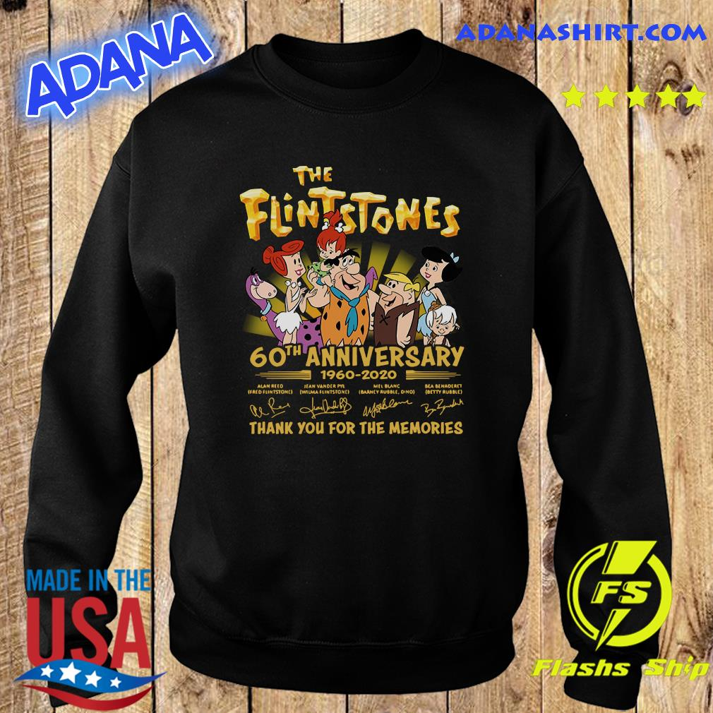 The Flintstones 60th Anniversary 1960 2020 Thank You For The Memories Signatures Shirt Sweater