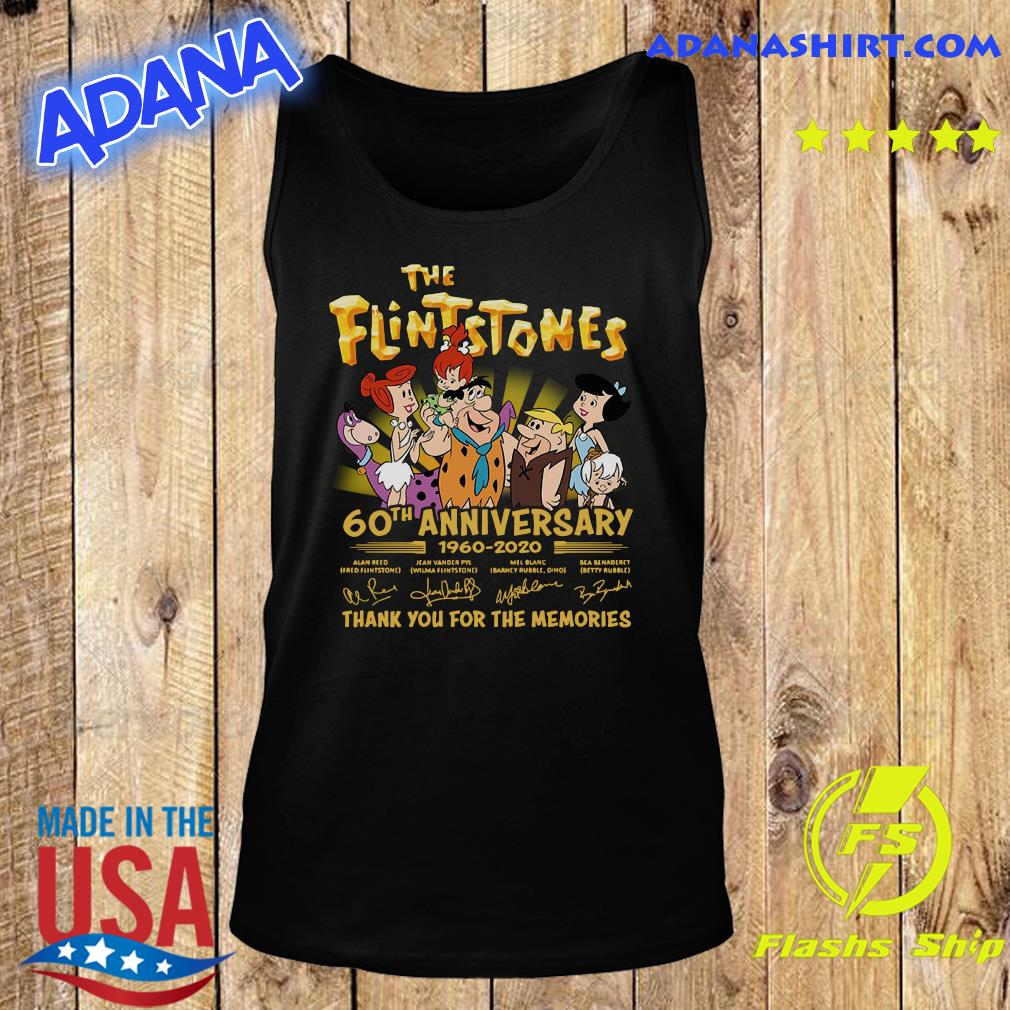 The Flintstones 60th Anniversary 1960 2020 Thank You For The Memories Signatures Shirt Tank Top