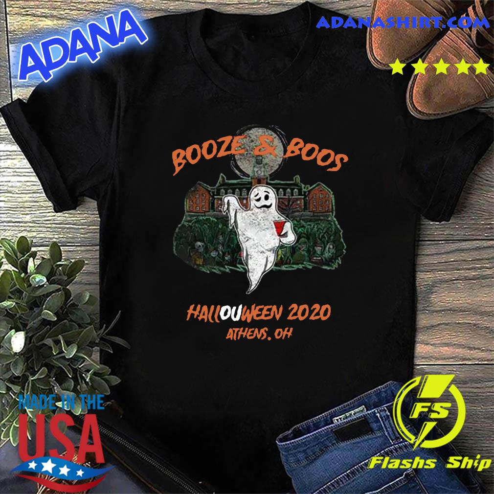 Halloween Camping In Oh 2020 Booze & Boos Halloween 2020 Athens Oh Shirt, hoodie, sweater, long