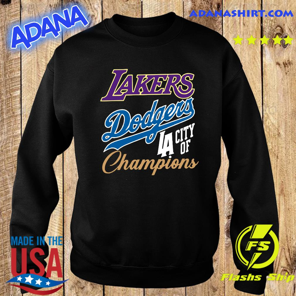 Los Angeles Dodgers Lakers Champions Championship World Series Shirt Sweater