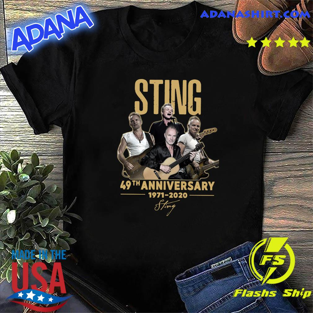 Official Sting 49th Anniversary 1998 2020 Signature Shirt