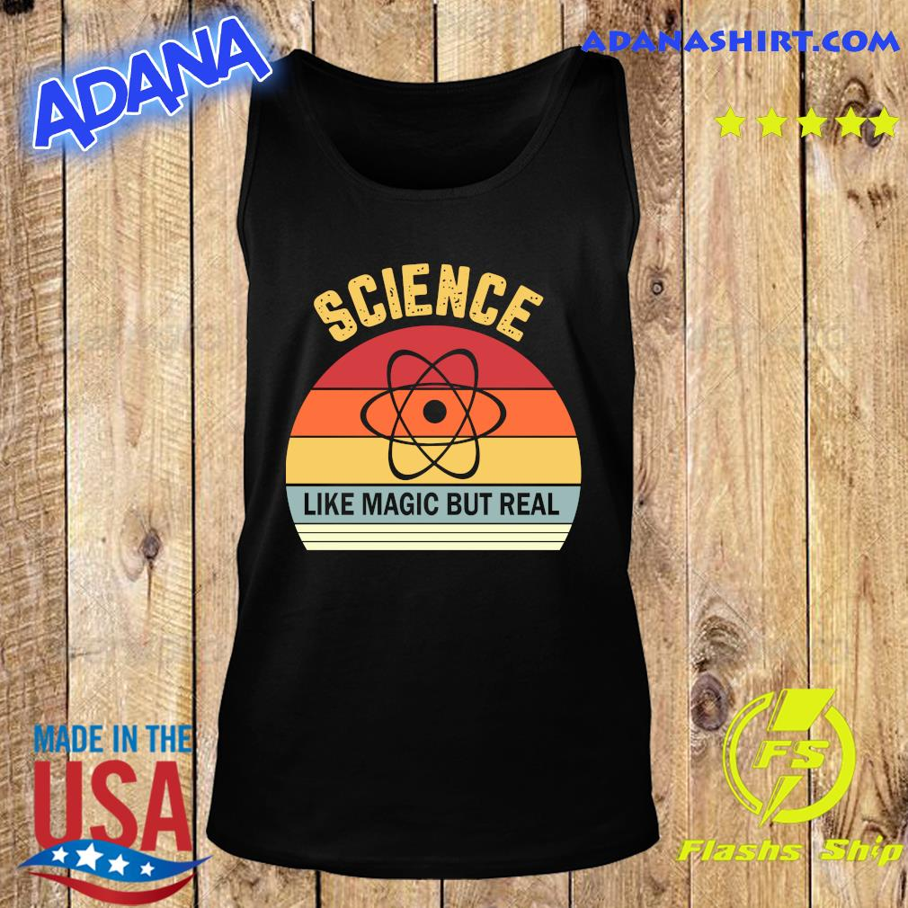 Science Like Magic But Real Funny Retro Science Teacher Shirt Tank Top
