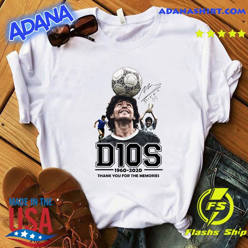 D10s Diego Maradona 1960 2020 Thank You For The Memories Signature Shirt