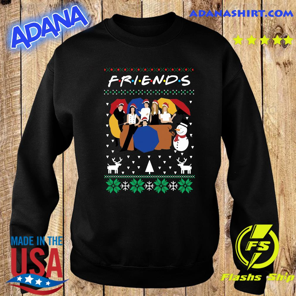 Friends And Snowman Christmas Ugly Sweatshirt