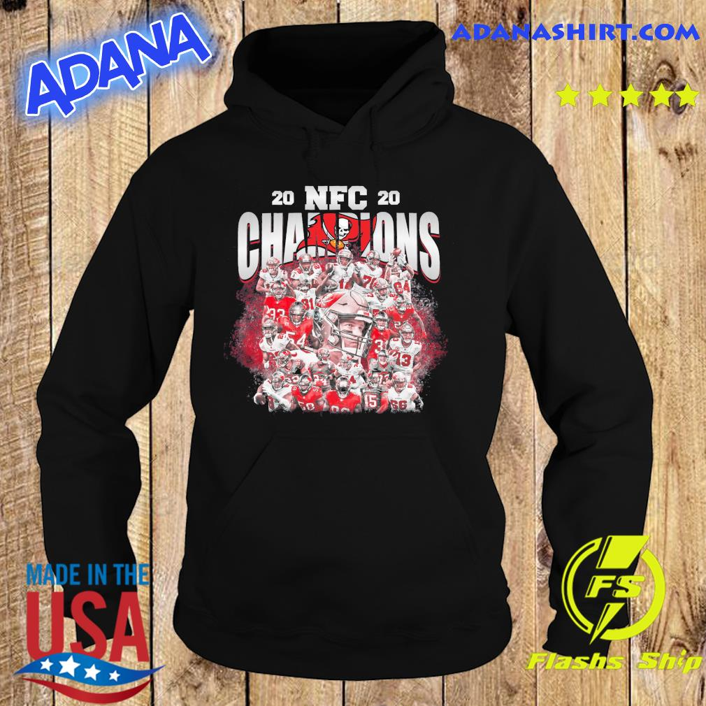 Tampa Bay Buccaneers Team Football Players 2020 Nfc Champions Shirt Hoodie